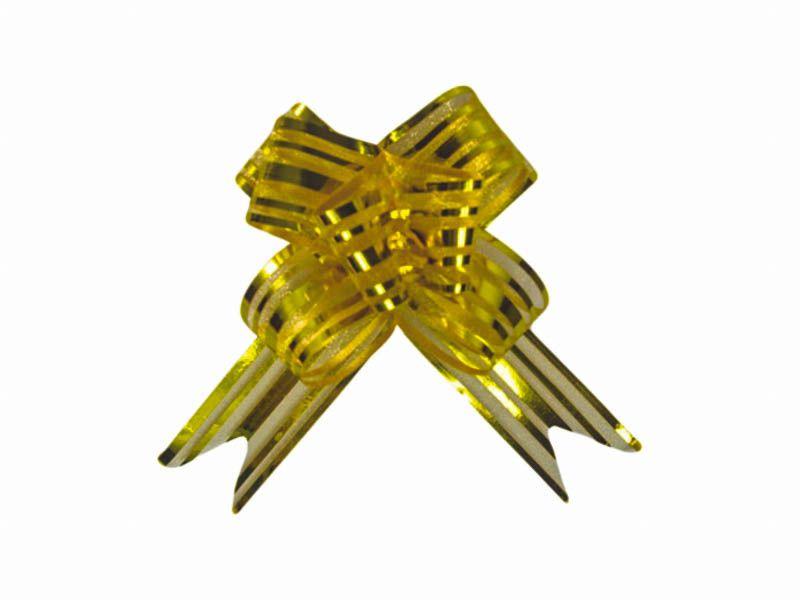 Laço mágico de organza dourado 33mm com 1 unidade