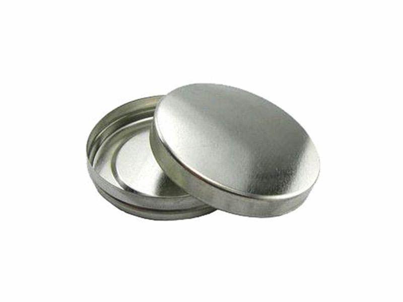 Lata metal prata pequena 5x1