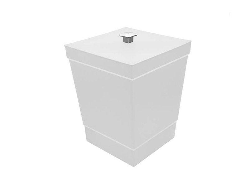 Lixeira branca com tampa 6,5 litros