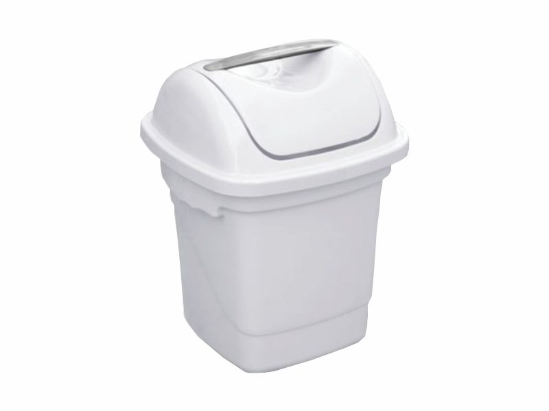 Lixeira com tampa basculante branca 10 litros
