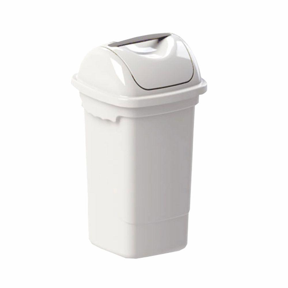 Lixeira com tampa basculante branca 14 litros