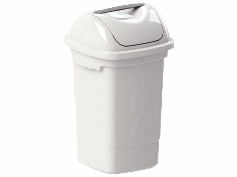 Lixeira com tampa basculante branca 30 litros