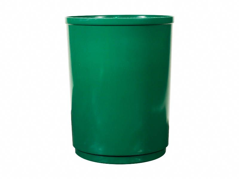 Lixeira para coleta seletiva redonda sem tampa verde 13 litros