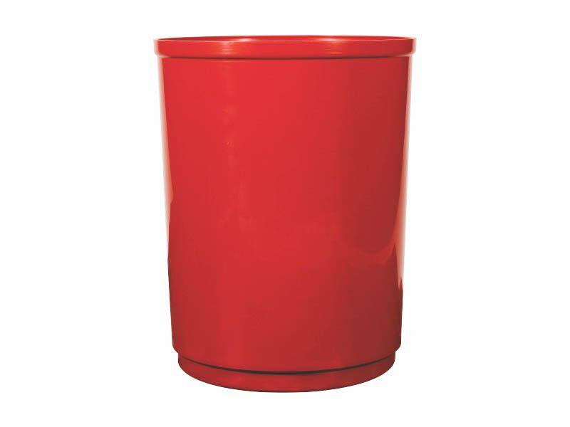 Lixeira Coleta Seletiva Redonda sem Tampa Vermelha 13 Litros