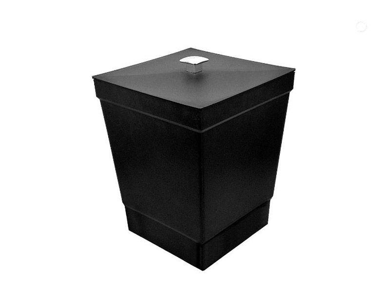 Lixeira preta com tampa 6,5 litros