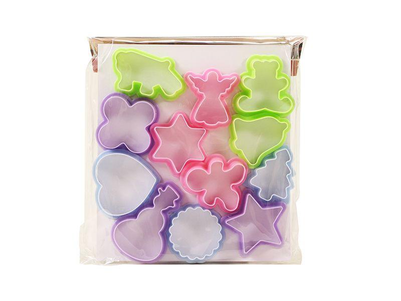Modeladores de plástico de biscoito com 12 peças