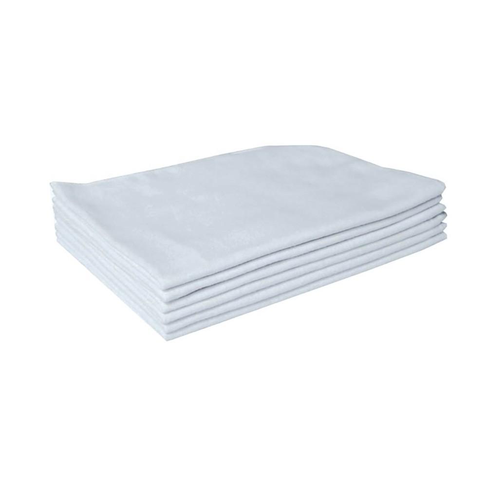 Pano Flanela Branca Pequena 28x38cm