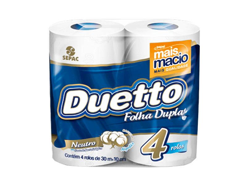 Papel Higiênico Duetto Folha Dupla 4x30 Metros