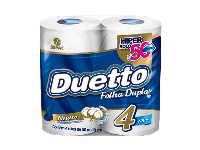 Papel Higiênico Duetto Folha Dupla 4x50 Metros