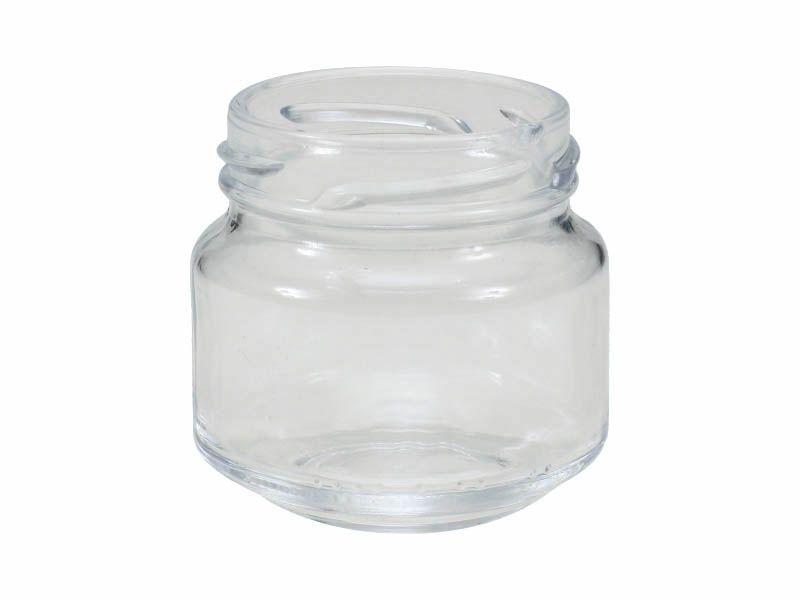 Pote de vidro redondo patê sem tampa 122ml/58mm