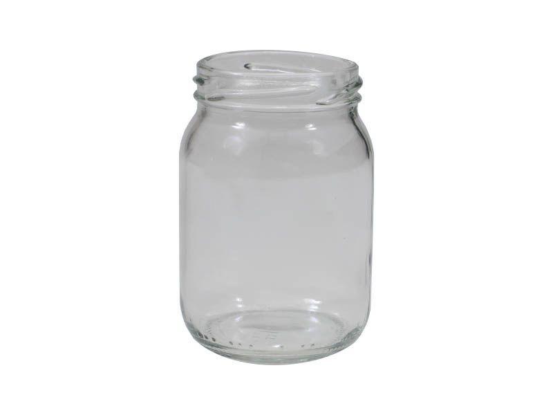 Pote de vidro redondo sem tampa 268ml/63mm