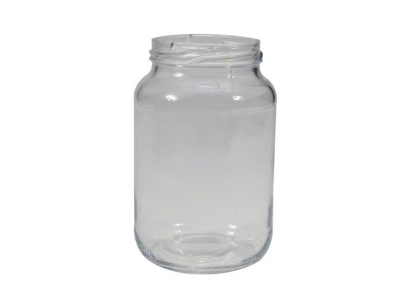 Pote de vidro redondo sem tampa 600ml/74mm