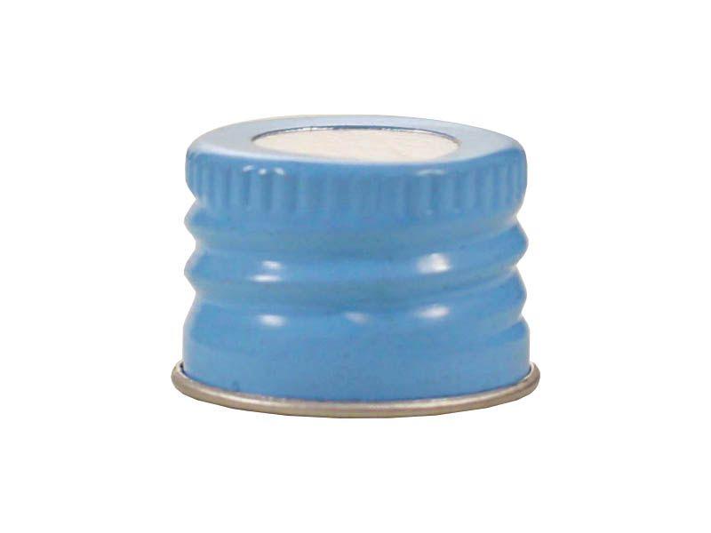 Tampa de alumínio com furo azul R20/410