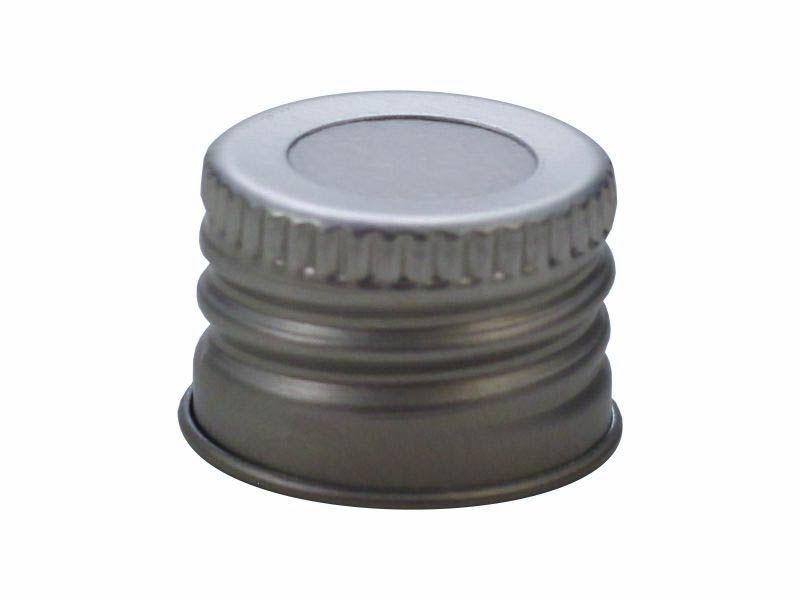 Tampa de alumínio com furo prata R18/410
