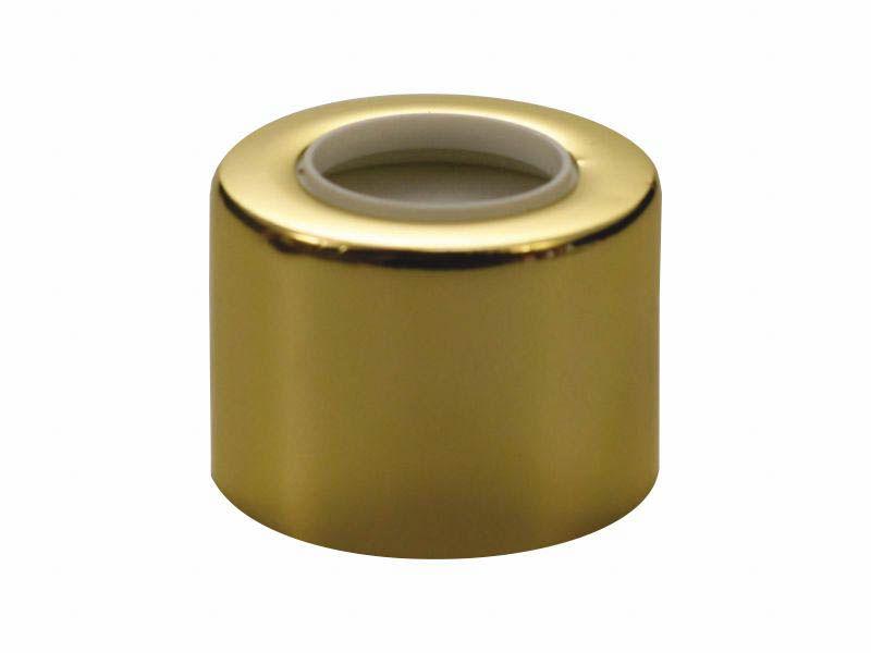 Tampa luxo com furo dourada R24/410