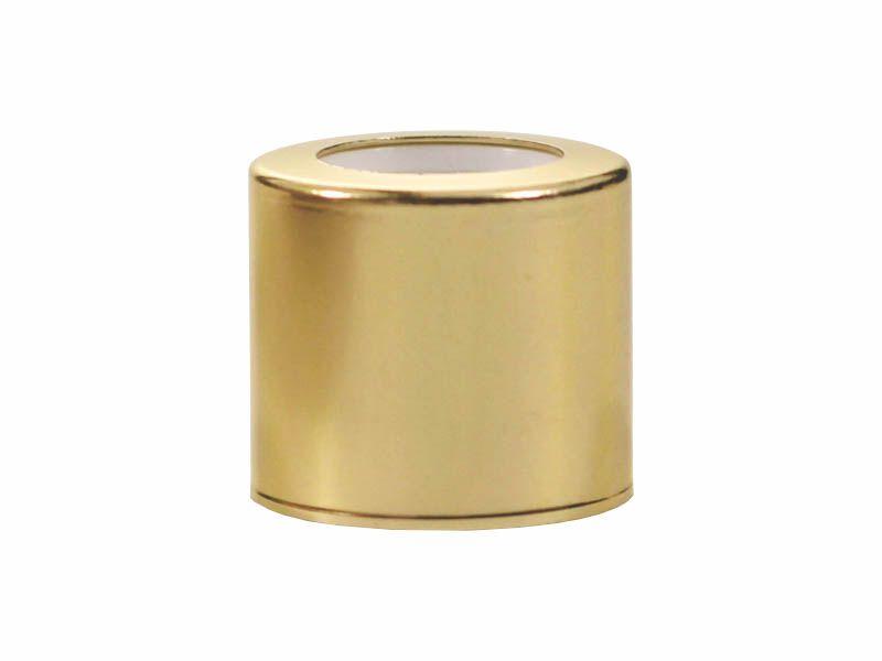 Tampa luxo com furo dourada R18/410