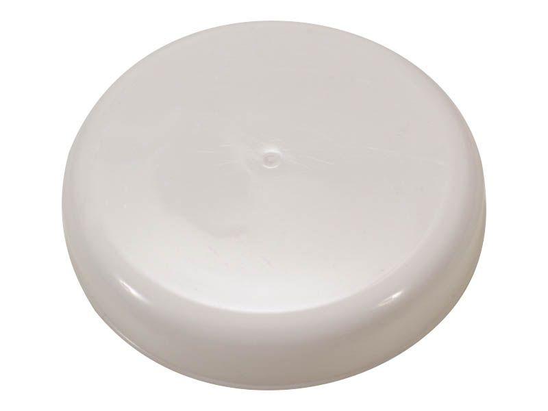 Tampa plástico branca para vidro de conserva 110mm