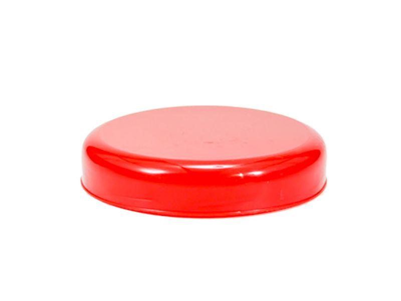 Tampa plástico vermelha para vidro de conserva 63mm