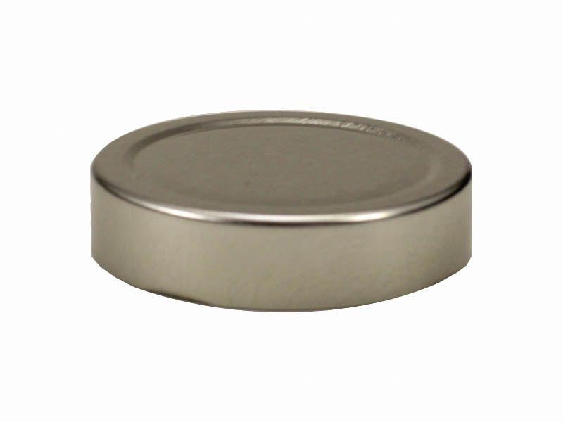 Tampa prata para vidro de conserva 70mm