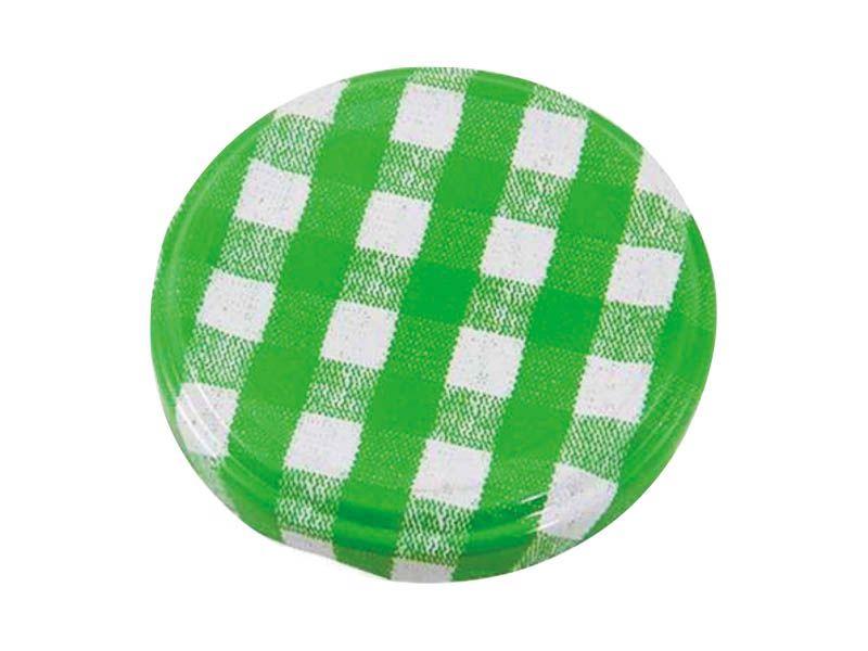 Tampa xadrez verde para vidro de conserva 63mm