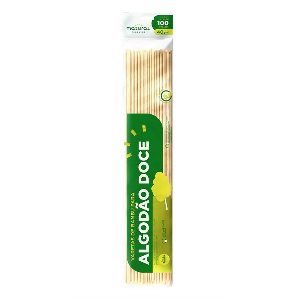 Varetas de Bambu para Algodão Doce 40cm com 100 Unidades