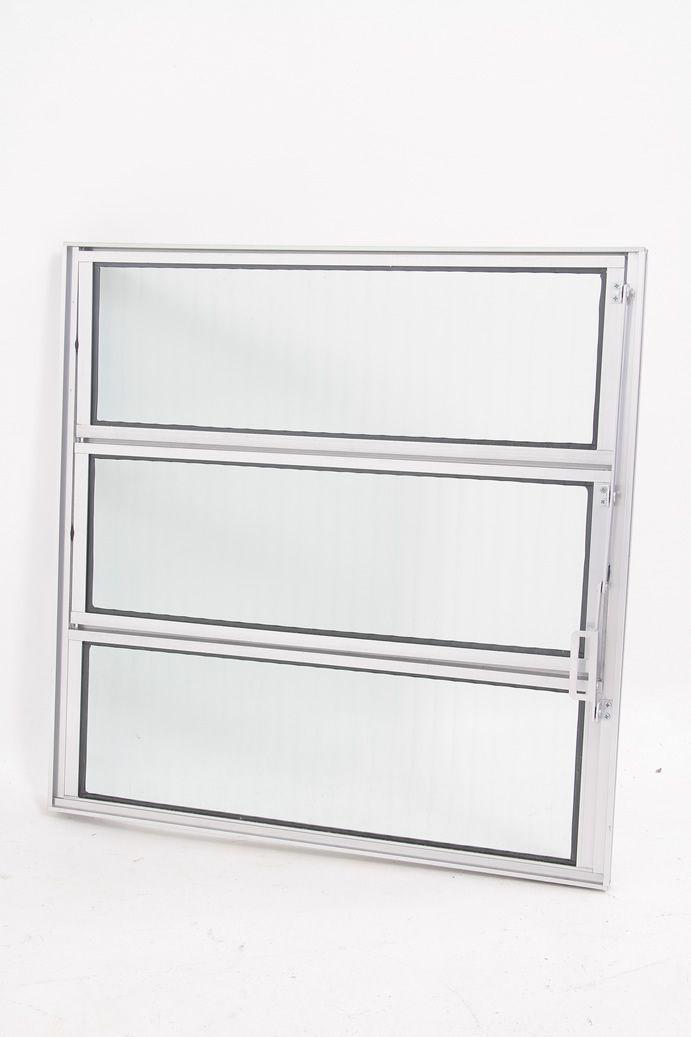 Basculante 1 Seção Vidro Canelado Linha 16