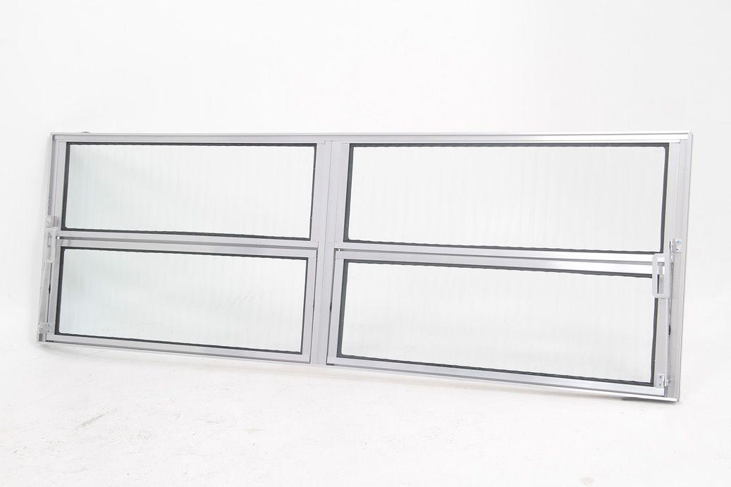 Basculante 2 Seções Vidro Canelado L16