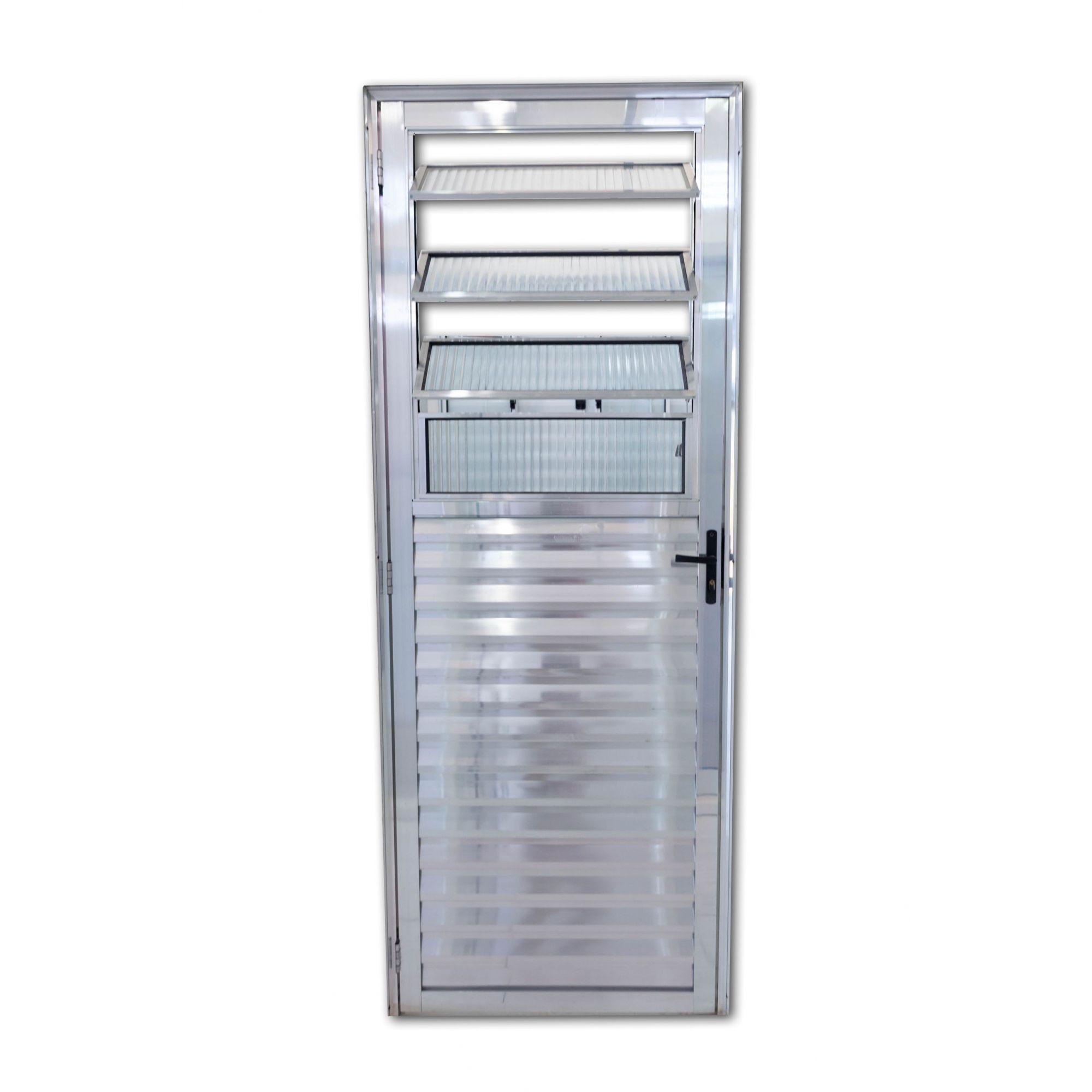Porta Basculante BRILHANTE Vidro Canelado Linha Premium
