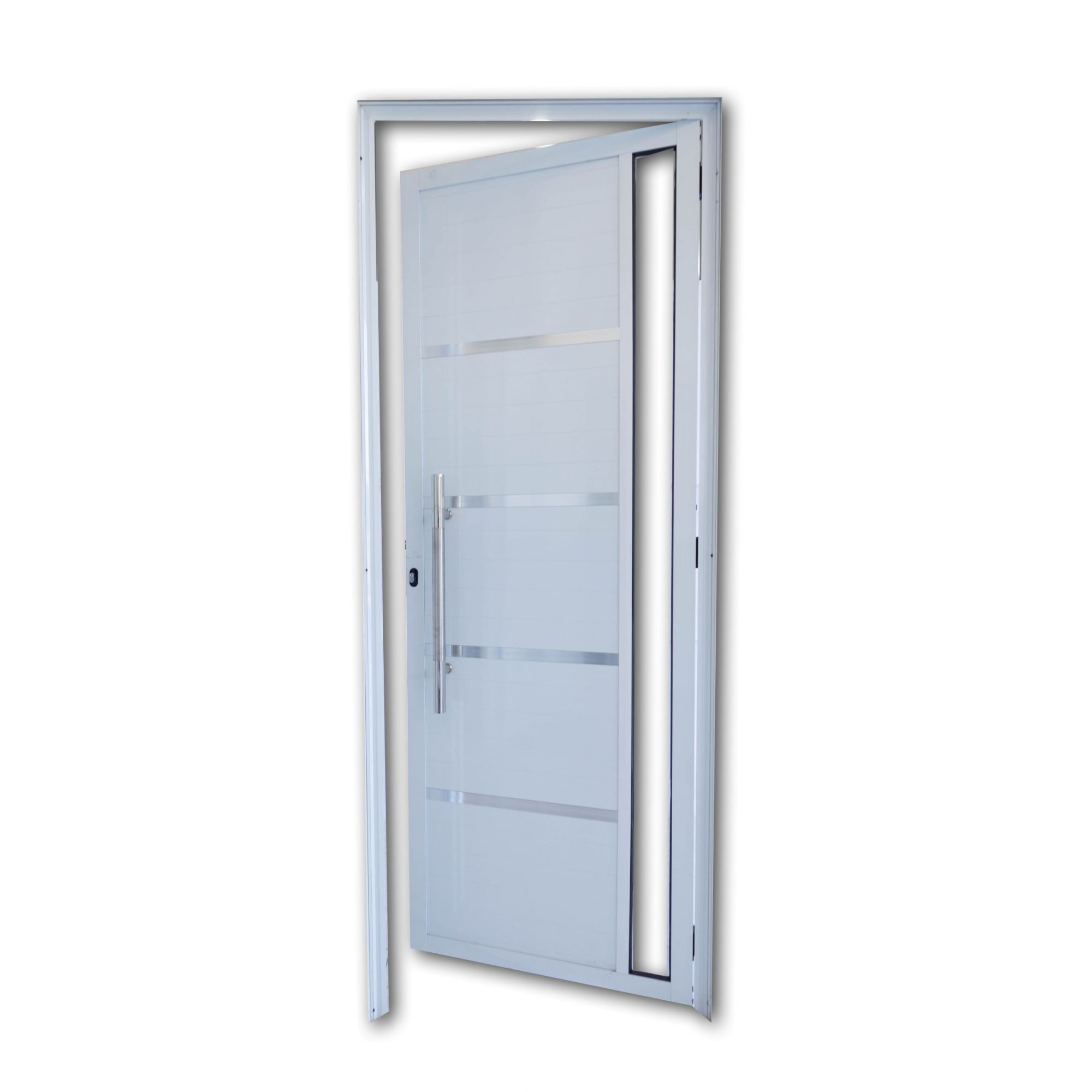 Porta Lambril Luxo com Puxador, Vidro Inteiro e frisos Linha Premium