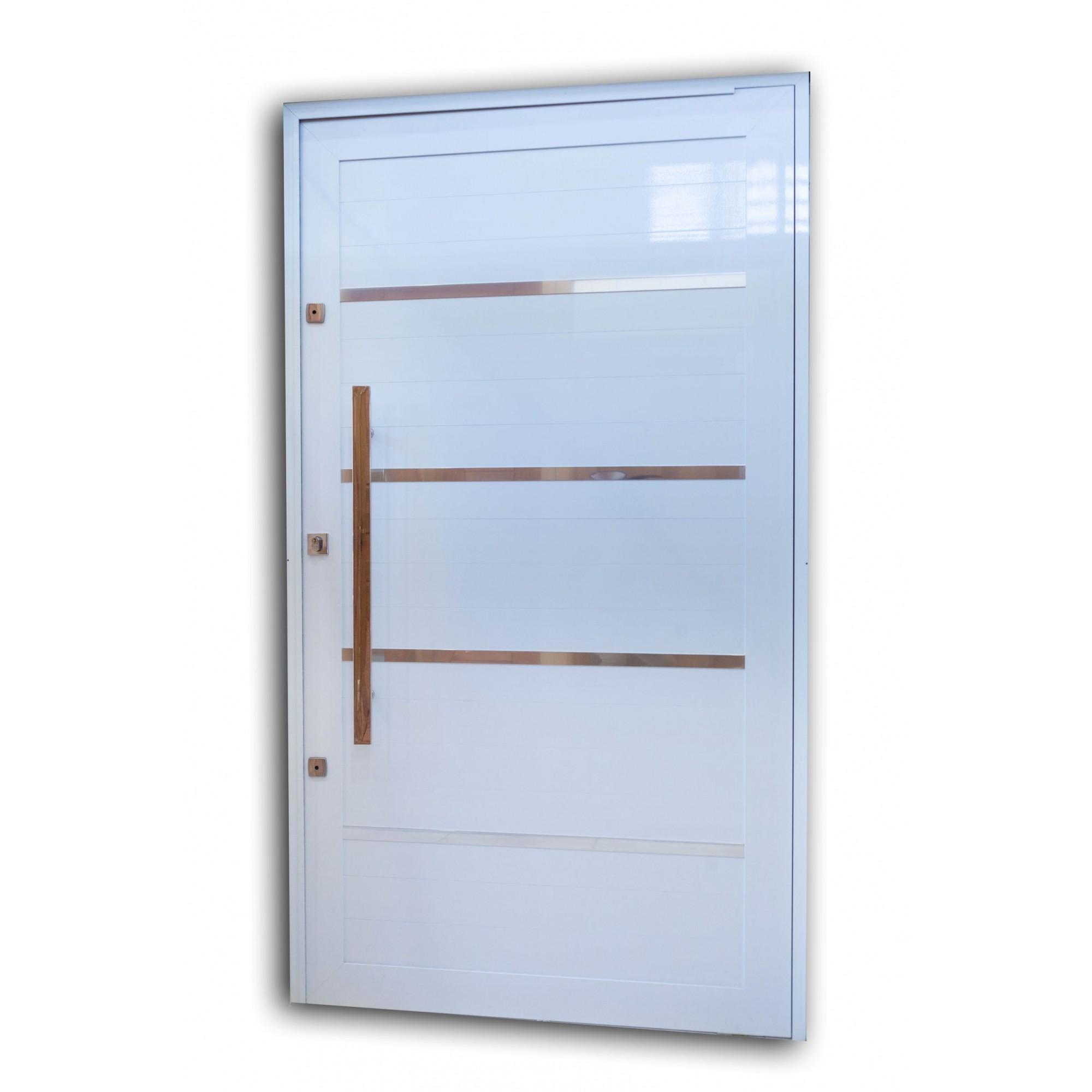 Porta Pivotante BRANCA 230X140 Com Frisos L30