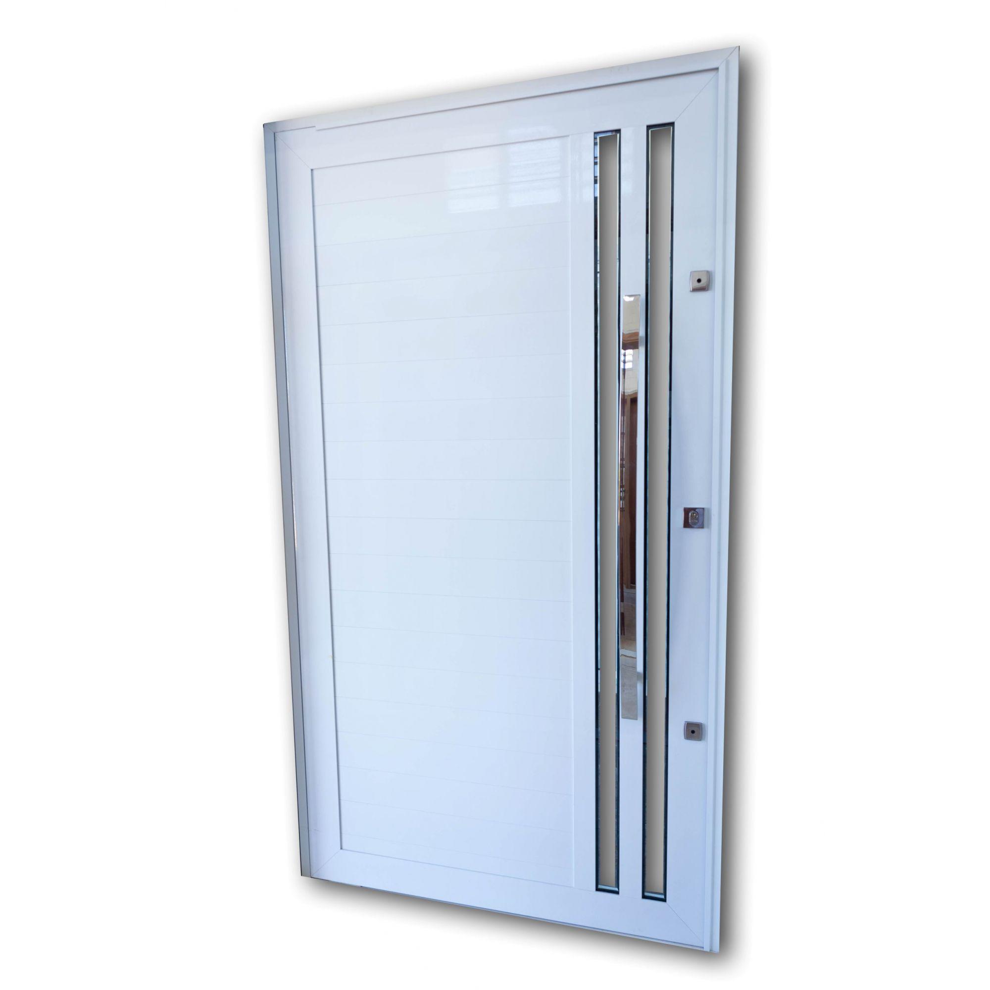 Porta Pivotante BRANCA Com Vidros L30