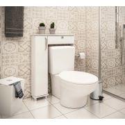 Armário Acoplado para Banheiro com 1 Portas e Prateleiras Ozini Branco
