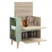 Armário Multiuso Bar com  Basculante Drink 1001 Aveiro e Verde