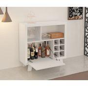 Bar Adega com Porta Basculante Tecno Mobili Branco