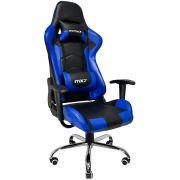 Cadeira Gamer MX7 8787 Giratoria Preto/Azul