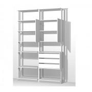 Closet Guarda-Roupa com 3 Gavetas 1 Armário e Prateleiras Clothes 9011 Branco