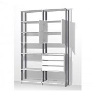 Closet Guarda-Roupa com 3 Gavetas 1 Armário e Prateleiras Clothes 9011 Branco/Espresso