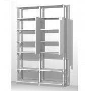 Closet Guarda-Roupas com Espelho 1 Armário e Prateleiras Clothes 9012 Branco