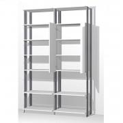 Closet Guarda-Roupas com Espelho 1 Armário e Prateleiras Clothes 9012 Branco/Espresso
