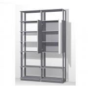 Closet Guarda-Roupas com Espelho 1 Armário e Prateleiras Clothes 9012 Espresso