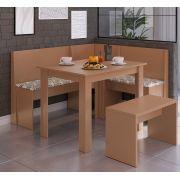 Conjunto Canto Alemão com Mesa e Banco 518 Ceramic