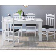 Conjunto com Mesa e 4 Cadeiras 11200 Preto e Branco