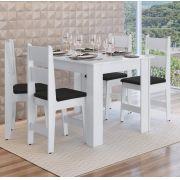 Conjunto com Mesa e 4 Cadeiras Milano 11200 Preto e Branco