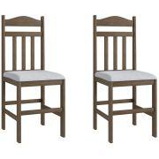Conjunto de 2 Cadeiras 200 Móveis Canção Ameixa Negra e Branco