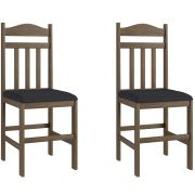 Conjunto de 2 Cadeiras 200 Móveis Canção Ameixa Negra e Preto