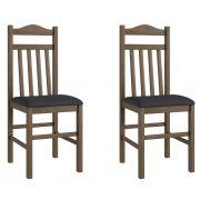 Conjunto de 2 Cadeiras 300 Móveis Canção Ameixa Negra e Preto