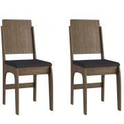 Conjunto de 2 Cadeiras 916 Móveis Canção Ameixa Negra e Preto