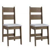 Conjunto de 2 Cadeiras Milano 903 Móveis Canção Ameixa Negra e Branco