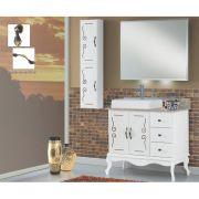 Conjunto de Banheiro Vô Francisco e Vó Rosa 465 Completo Branco Laka e Dourado