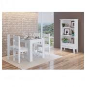 Conjunto de Mesa com 4 Cadeiras Milano e 1 Buffet 11200 Branco